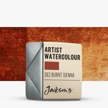 Jackson's : Artist Watercolour Paint : Half Pan : Burnt Sienna