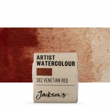 Jackson's : Artist Watercolour Paint : Half Pan : Venetian Red