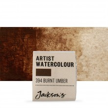 Jackson's : Artist Watercolour Paint : Half Pan : Burnt Umber