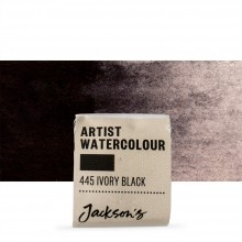 Jackson's : Artist Watercolour Paint : Half Pan : Ivory Black