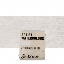 Jackson's : Artist Watercolour Paint : Half Pan : Chinese White