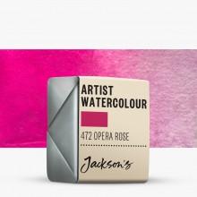 Jackson's : Artist Watercolour Paint : Half Pan : Opera Rose