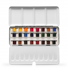 Jackson's : Artist Watercolour Paint : Half Pan : Set of 24