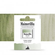 MaimeriBlu : Watercolour Paint : Half Pan : Green Earth