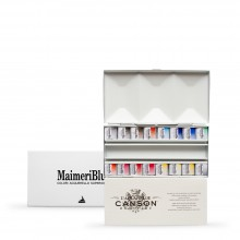 MaimeriBlu : Watercolour Paint : Half Pan : Metal Box Set of 16