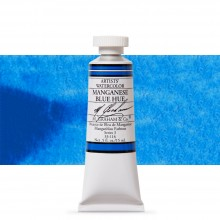 M. Graham : Artists' Watercolour Paint : 15ml : Manganese Blue Hue