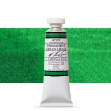 M. Graham : Artists' Watercolour Paint : 15ml : Permanent Green Light