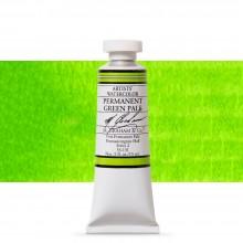 M. Graham : Artists' Watercolour Paint : 15ml : Permanent Green Pale