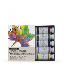 M. Graham : Artists' Watercolour Paint : 15ml : Jewel Tone Set of 5