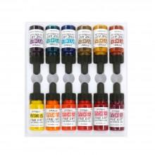 Dr. Ph. Martin's : Hydrus Liquid Watercolour Paint : 15mlx12 : Set 3 (25H : 36H)