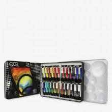 Golden : Qor : Watercolour Paint : Introductory Set of 24 Colours : 5ml Tubes