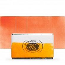Roman Szmal : Aquarius : Watercolour Paint : Full Pan : Golden Orange
