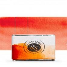 Roman Szmal : Aquarius : Watercolour Paint : Full Pan : Transparent Pyrrole Orange