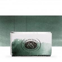 Roman Szmal : Aquarius : Watercolour Paint : Full Pan : Perylene Green