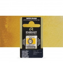 Talens : Rembrandt Watercolour Paint : Half Pan Indian Yellow
