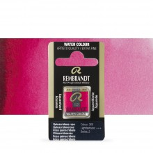 Talens : Rembrandt Watercolour Paint : Half Pan Quinacridone Rose