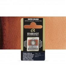 Talens : Rembrandt Watercolour Paint : Half Pan Transparent-Oxide Red