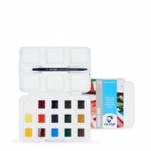 Royal Talens : Van Gogh : Watercolour Paint : Half Pan : Pocket Box Set of 12 + 3