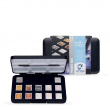 Royal Talens : Van Gogh : Watercolour Paint : Half Pan : Pocket Box Set of 12 Speciality Colours