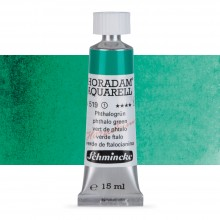 Schmincke : Horadam Watercolour Paint : 15ml : Phthalo Green