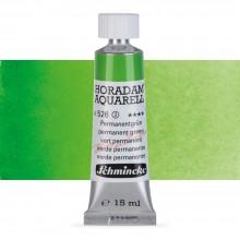 Schmincke : Horadam Watercolour Paint : 15ml : Permanent Green