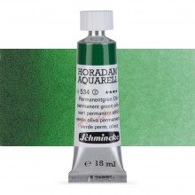 Schmincke : Horadam Watercolour Paint : 15ml : Permanent Green Olive