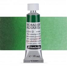 Schmincke : Horadam Watercolour Paint : 15ml : Permanent Green Olive