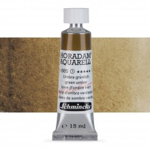 Schmincke : Horadam Watercolour Paint : 15ml : Green Umber