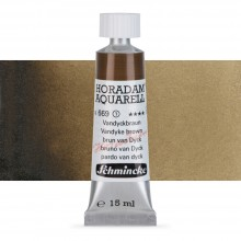Schmincke : Horadam Watercolour Paint : 15ml : Vandyke Brown