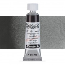 Schmincke : Horadam Watercolour Paint : 15ml : Lamp Black (Blue Black)