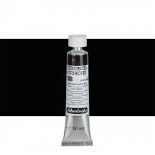 Schmincke : Designers Gouache : 20ml : Ivory Black