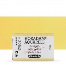Schmincke : Horadam Watercolour Paint : Full Pan : Rutile Yellow