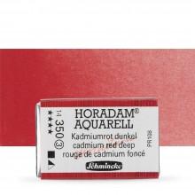 Schmincke : Horadam Watercolour Paint : Full Pan : Cadmium Deep Red