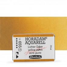 Schmincke : Horadam Watercolour Paint : Full Pan : Yellow Ochre