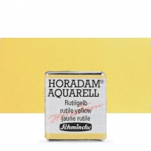 Schmincke : Horadam Watercolour Paint : Half Pan : Rutile Yellow