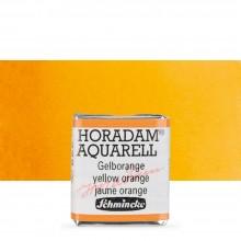 Schmincke : Horadam Watercolour Paint : Half Pan : Yellow Orange