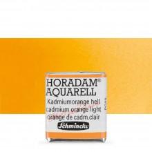 Schmincke : Horadam Watercolour Paint : Half Pan : Cadmium Orange Light