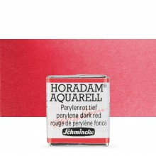 Schmincke : Horadam Watercolour Paint : Half Pan : Perylene Dark Red