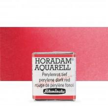 Schmincke : Horadam Watercolour Paint : Half Pan : Perylene Dark Red