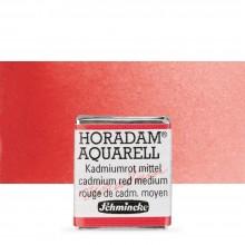 Schmincke : Horadam Watercolour Paint : Half Pan : Cadmium Red Middle
