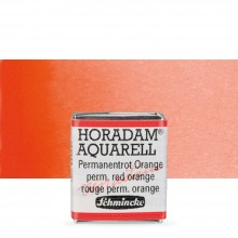 Schmincke : Horadam Watercolour Paint : Half Pan : Permanent Red Orange