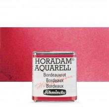Schmincke : Horadam Watercolour Paint : Half Pan : Bordeaux