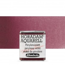 Schmincke : Horadam Watercolour Paint : Half Pan : Perylene Violet