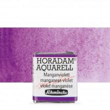 Schmincke : Horadam Watercolour Paint : Half Pan : Manganese Violet