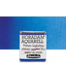 Schmincke : Horadam Watercolour Paint : Half Pan : Phthalo Sapphire Blue