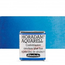 Schmincke : Horadam Watercolour Paint : Half Pan : Cerulean Blue Tone