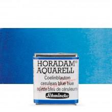Schmincke : Horadam Watercolour Paint : Half Pan : Cerulean Blue Tone