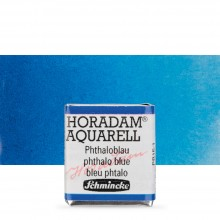 Schmincke : Horadam Watercolour Paint : Half Pan : Phthalo Blue