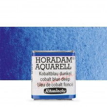 Schmincke : Horadam Watercolour Paint : Half Pan : Cobalt Blue Deep