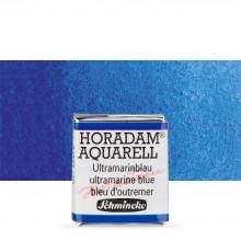 Schmincke : Horadam Watercolour Paint : Half Pan : Ultramarine Bl